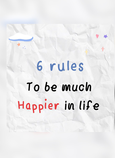 6 rules to be much happier  ปก