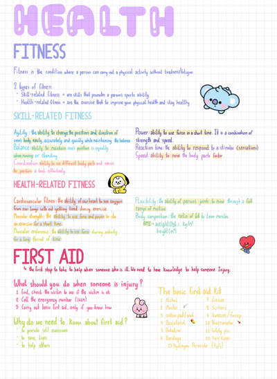 Fitness and First aid