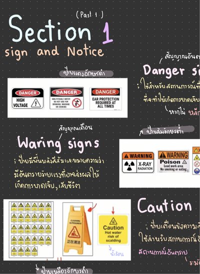 section sign and notice ปก