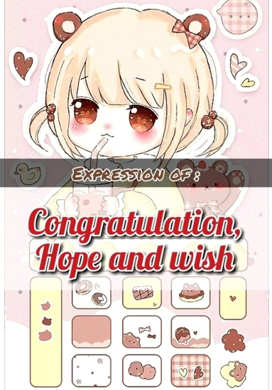 expression of congratulation, hope and wish