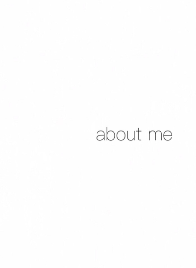 【 about me 】 表紙